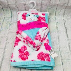 Betsey Johnson Baby Blanket & Snuggle Toy